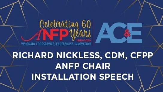 Installation Speech - ANFP Chair Richard...