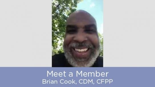 Meet a Member - Brian Cook, CDM, CFPP