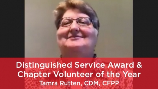 2021 Distinguished Service Award (Member) and Chapter Volunteer of the Year