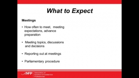 ANFP Chapter Chat: How to Run an Effective Meeting