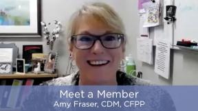 Meet a Member - Amy Fraser, CDM, CFPP