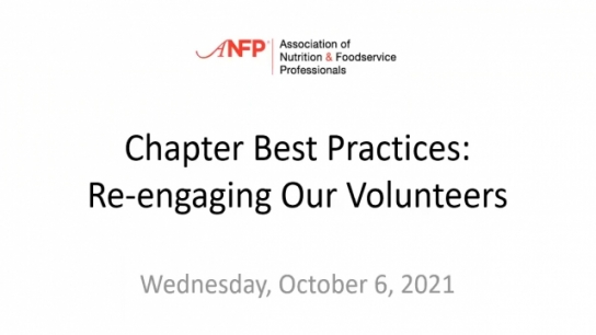 ANFP Chapter Best Practices: Re-engaging Our Volunteers